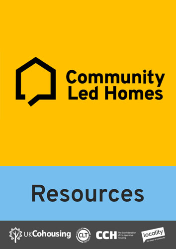 more resources from national Community Led Homes